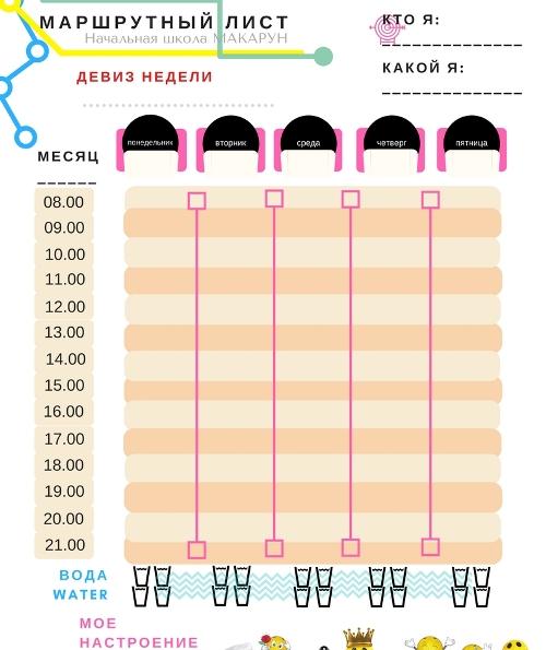 маршрутный лист Макарун